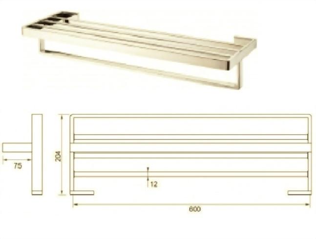 Towel Rail 2200-02l4d-600