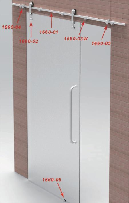 Sliding Glass Door System-Glass To Wall 1660W