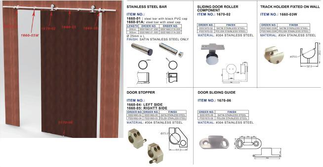 Sliding Wooden Door System 1670 2