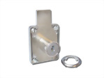 Two turns and long latch (18mm) lock system for office furniture 508-22