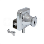Cabinet Single Swinging Glass Door Lock 407-2-5