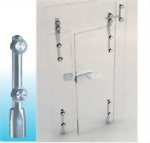 FLOORPIVOT BAR(BOTTOM GLASS DOOR PIVOT STAND)-Glass To Wall 1500SUS-02-Sunken Screw Series