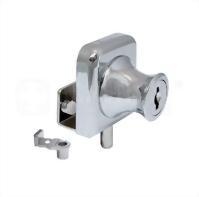 Glass cabinet lock - single door - C407-2-8 K/A #140