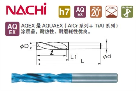NACHI 9610 平底鑽頭 1~13mm (小銑床 迷你銑床 桌上銑床 桌上型銑床 適用)