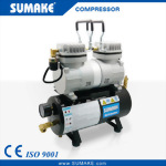 1/6HP Mini Air Brush Compressor w/3.5L Tank & Gauge