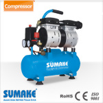 Silent Oil Free Air Compressor,3/4HP, 6L Tank