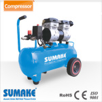 Silent Oil Free Air Compressor,1HP, 24L Tank