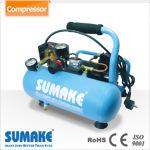 1/6HP Oil-Less Nini Air Compressor w/4L Tank, w/o Panel