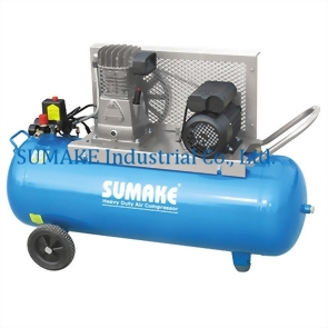 1.5HP SINGLE STAGE BELT TYPE AIR COMPRESSOR WITH 90 LITER TANK