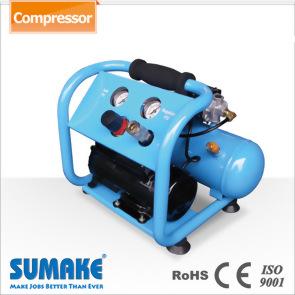 1/6HP Oil-Less Nini Air Compressor w/4L Tank, w/4L Tank & Panel