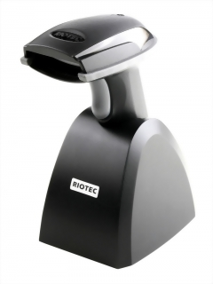 Wireless Handheld barcode scanner with Cradle, RIOTEC iCR6307ABU/ABQ, Bluetooth Barcode Scanner
