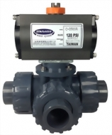 13-09-11-Pneumatic Tree Way Ball valve