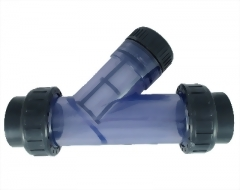 13-12-01-Clear PVC Y Strainer/ filter