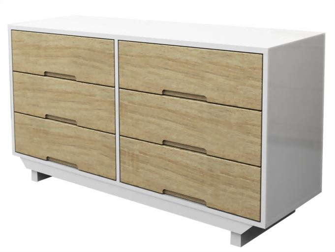 3+3 drawers of chest