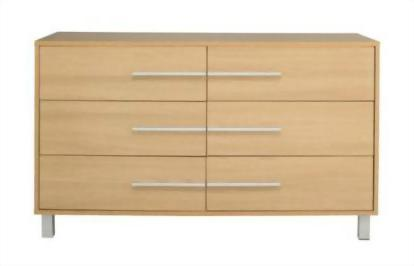 3+3 drawer chest