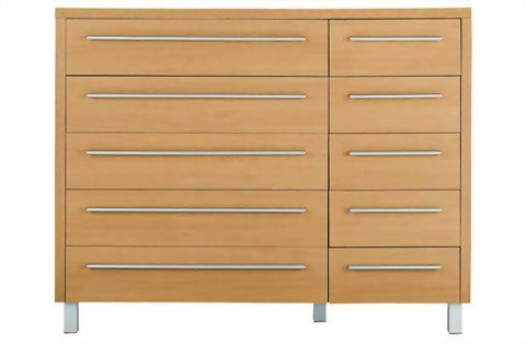 5+5 drawers chest