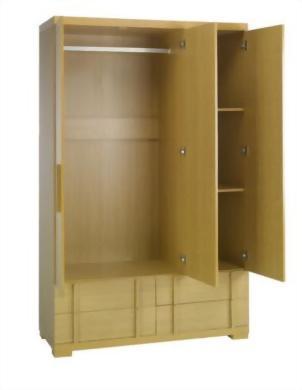 3 door 4 drawer wardrobe
