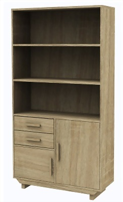 Door 2 Drawer Bookcase