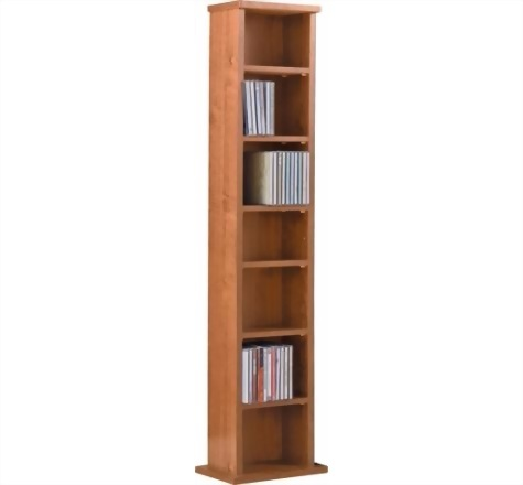 CD and DVD storage tower