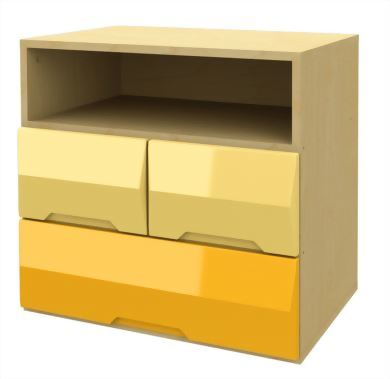 2 and 1 Drawer Storage Chest