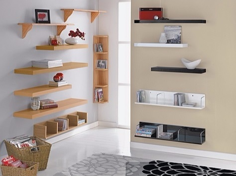 High Gloss Floating Shelf 60cm