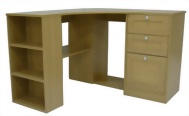 L shaped Desk With file cabinet
