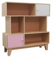 Bookcase, Bookcase with doors