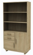 2-Door 2-Drawer Bookcase