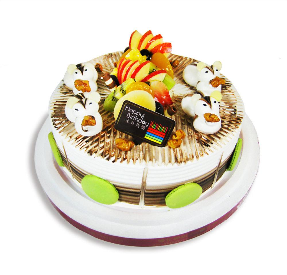生日蛋糕 | 優仕紳可愛小松鼠蛋糕