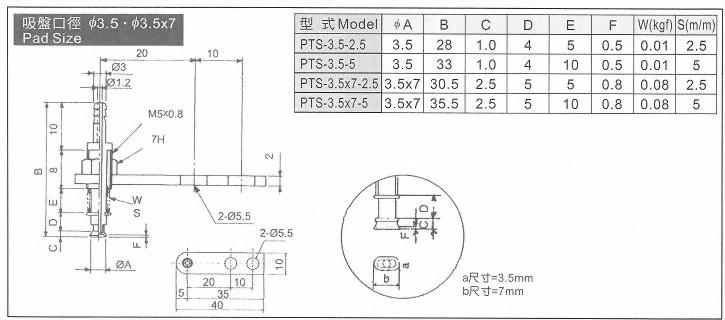 PTS-3.5,3.5x7真空系列-PTS系列(緩衝型吸盤)