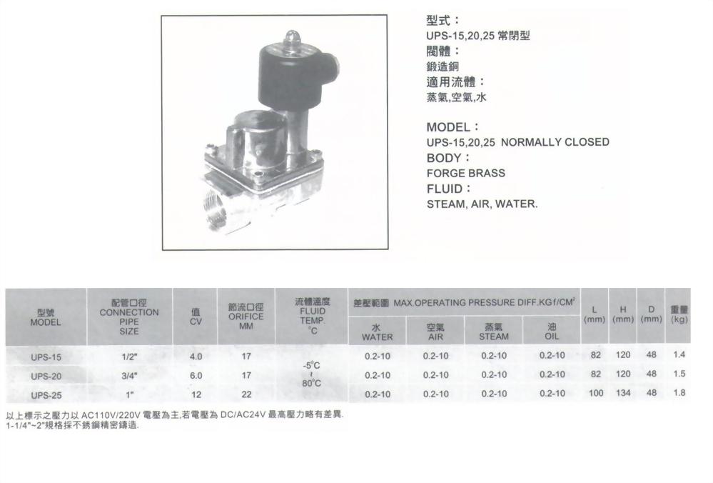 UPS-15,20,25常閉型