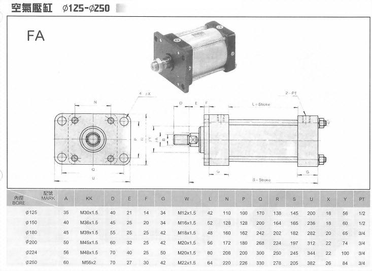 FA空壓缸ø125-ø250