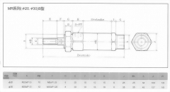 MR系列(ø20.ø30)B型空壓缸