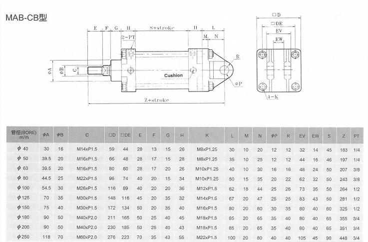MA系列MAB-CB型空壓缸