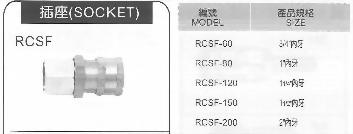 RCSF大流量RC式快速接頭插座