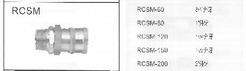 RCSM大流量RC式快速接頭插座