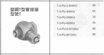塑鋼T型管接頭型號T