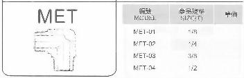 SUS不銹鋼接頭-MET