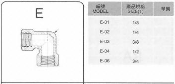 SUS不銹鋼接頭-E