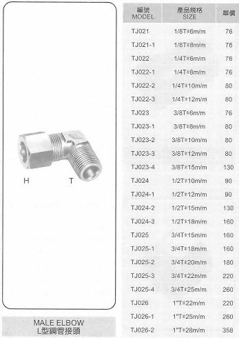 L型鋼管接頭