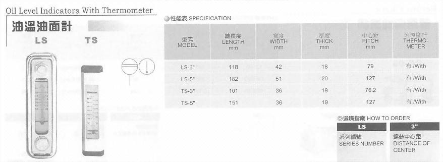油壓元件-油溫油面計