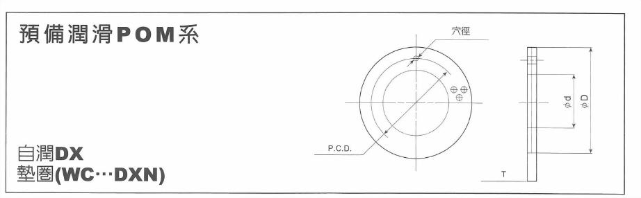 預備潤滑POM系-自潤DX墊圈