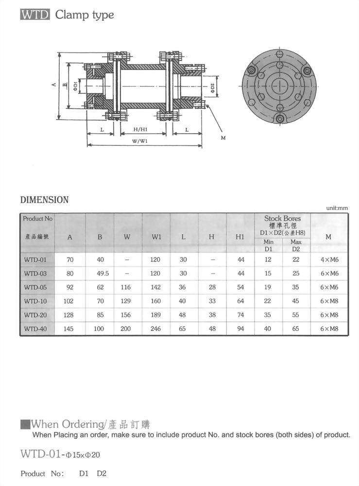 WTD聯軸器