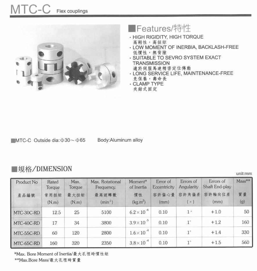 MTC-C聯軸器