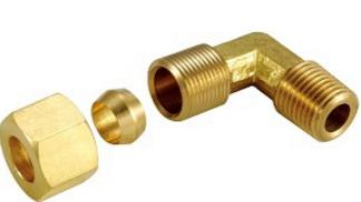LM90°外牙銅管
