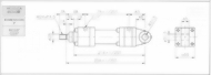 HC10系列CA型ø63x2節油壓缸