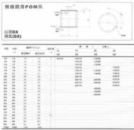 預備潤滑POM系-自潤DX襯套