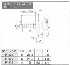 PYK-5,6,8真空系列-P系列(標準吸盤)