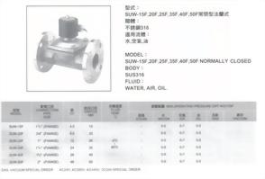 SUW-15F,20F,25F,35F,40F,50F常閉型法蘭式