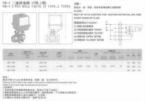 UM-1三通球塞閥(T型,L型)
